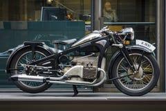 葡萄酒摩托车Zuendapp K800, 1937年 图库摄影