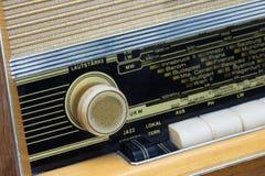 葡萄酒收音机细节  免版税库存图片