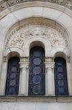 葡萄酒教会窗口 库存图片