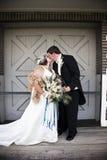 葡萄酒新娘和新郎 库存照片