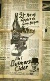葡萄酒新闻纸背景,伦敦 图库摄影