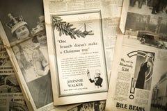葡萄酒新闻纸背景,伦敦 库存图片