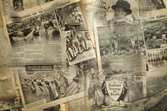 葡萄酒新闻纸背景,伦敦 免版税图库摄影