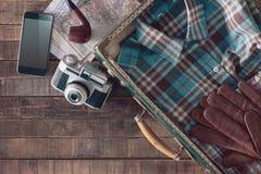 葡萄酒旅客包装 图库摄影