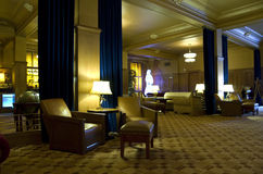 葡萄酒旅馆大厅 免版税库存图片
