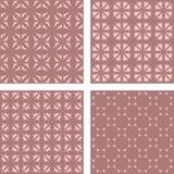 葡萄酒无缝的样式背景集合 免版税库存图片
