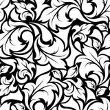 葡萄酒无缝的黑白花卉样式 也corel凹道例证向量 向量例证