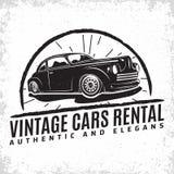 葡萄酒旧车改装的高速马力汽车象征设计 库存照片