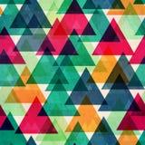 葡萄酒明亮的颜色三角无缝的纹理 免版税图库摄影
