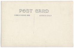葡萄酒明信片后面艺术品20世纪20世纪10年代 免版税库存照片