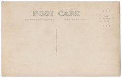 葡萄酒明信片后面艺术品20世纪20世纪10年代 库存照片