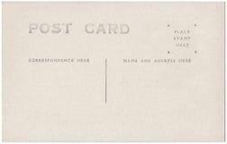 葡萄酒明信片后面艺术品20世纪1910 免版税库存图片
