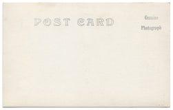 葡萄酒明信片后面艺术品20世纪1910 免版税图库摄影