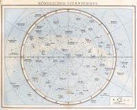 葡萄酒星图, 1890。 库存照片