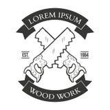 葡萄酒木匠业手工具、修理公司、标签和设计 免版税库存照片