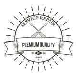 葡萄酒木匠业手工具、修理公司、标签和设计 库存照片