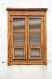 葡萄酒木窗口 免版税库存图片