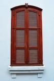 葡萄酒木窗口 库存照片