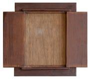 葡萄酒木头板 库存照片