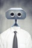 葡萄酒机器人机器人特写镜头前面画象  免版税图库摄影