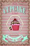 葡萄酒杯形蛋糕海报设计 库存图片