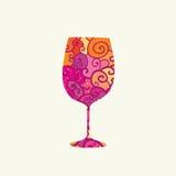 葡萄酒杯海报 免版税图库摄影