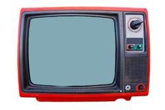 葡萄酒查出的电视机 库存照片