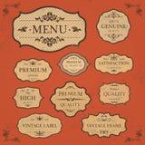 葡萄酒标签样式框架汇集 免版税库存照片