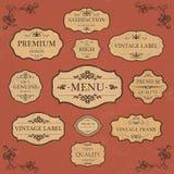 葡萄酒标签样式汇集 免版税库存图片