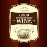 葡萄酒标签的 向量例证