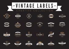 葡萄酒标记商标传染媒介 咖啡啤酒销售徽章 皇族释放例证