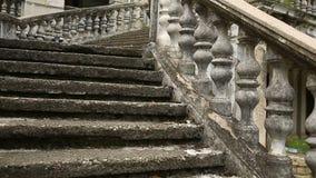 葡萄酒栏杆的支 老宫殿的楼梯 股票录像