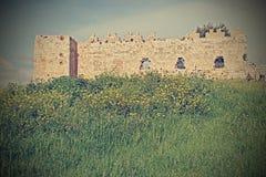 葡萄酒样式古老堡垒废墟Tel Aphek-Antipatr Imafe  库存图片