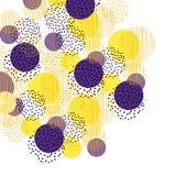 葡萄酒样式圈子几何背景 印刷品和网的例证表面设计 向量例证