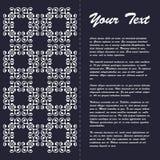 葡萄酒样式小册子与东部装饰品的模板设计 免版税库存图片