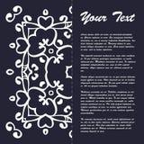 葡萄酒样式小册子与东部装饰品的模板设计 免版税图库摄影