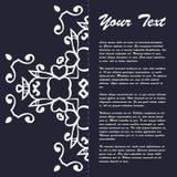 葡萄酒样式小册子与东部装饰品的模板设计 免版税库存照片