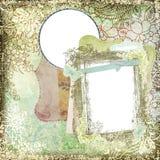 葡萄酒样式植物的花卉背景框架2 库存照片