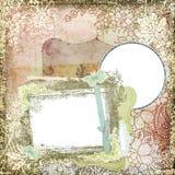 葡萄酒样式植物的花卉背景框架4 免版税库存照片