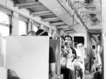 葡萄酒样式泰国铁路火车个人无盖货车 免版税库存照片