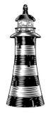 葡萄酒样式灯塔 免版税库存照片
