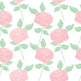 葡萄酒样式玫瑰无缝的样式背景开花 库存照片