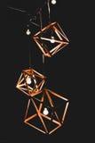 葡萄酒样式电灯泡和灯在现代样式 库存图片