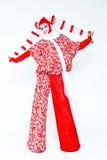 葡萄酒样式的女性小丑 免版税库存照片