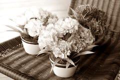 葡萄酒样式花束花 库存照片