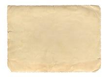 葡萄酒样式褐色老纸纹理或背景,与参差不齐的被撕毁的边缘 免版税库存照片