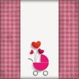 葡萄酒桃红色被检查的布料女孩婴孩 库存图片