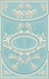 葡萄酒框架或标签有花卉背景在b 免版税库存照片