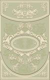 葡萄酒框架或标签有花卉背景在o 免版税图库摄影