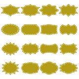 葡萄酒框架标签,网的,贴纸,标记纸设计 免版税库存图片